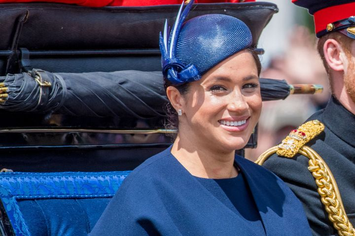 Mandatory Credit: Photo by Shutterstock (10298813h) Meghan Duchess of Sussex Trooping the Colour ceremony, London, UK - 08 Jun 2019