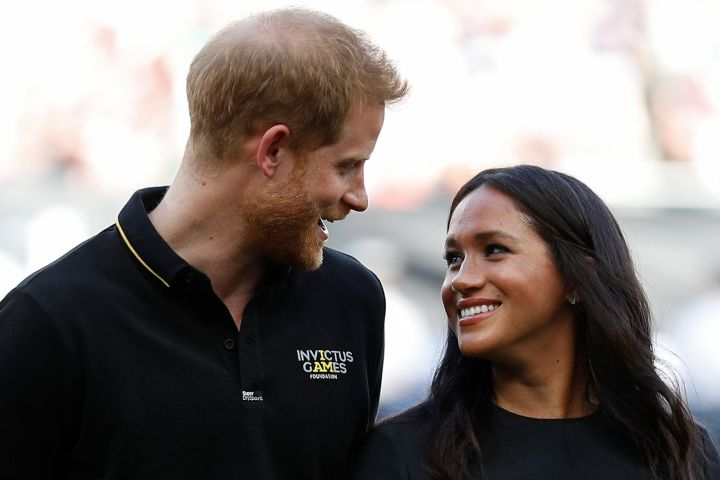 Mandatory Credit: Photo by Shutterstock (10324514t) Prince Harry and Meghan Duchess of Sussex attend the Boston Red Sox v New York Yankees game Boston Red Sox v New York Yankees baseball match, London Stadium, London, UK - 29 Jun 2019