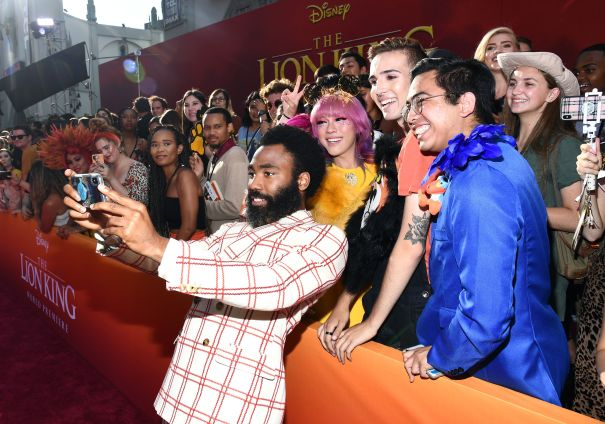 Donald Glover Snaps Some Photos With Fans