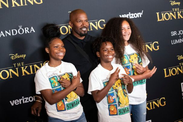 Jamie Foxx Gets The Best Dad Award At 'The Lion King'