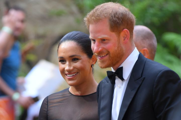 Mandatory Credit: Photo by David Fisher/Shutterstock (10332765by) Prince Harry and Meghan Duchess of Sussex 'The Lion King' film premiere, London, UK - 14 Jul 2019