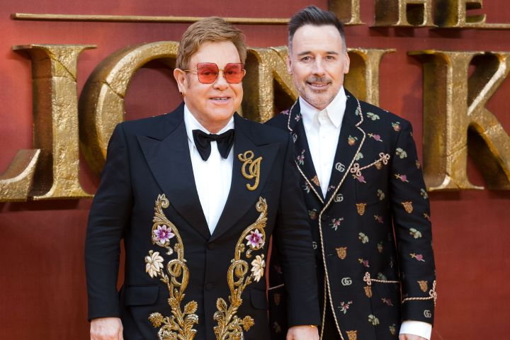 Elton John and his husband David Furnish. Photo: VICKIE FLORES/EPA-EFE/Shutterstock