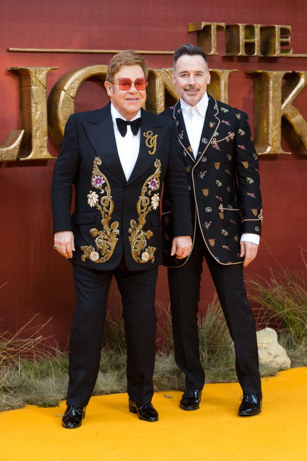 Elton John And David Furnish Step Out In London