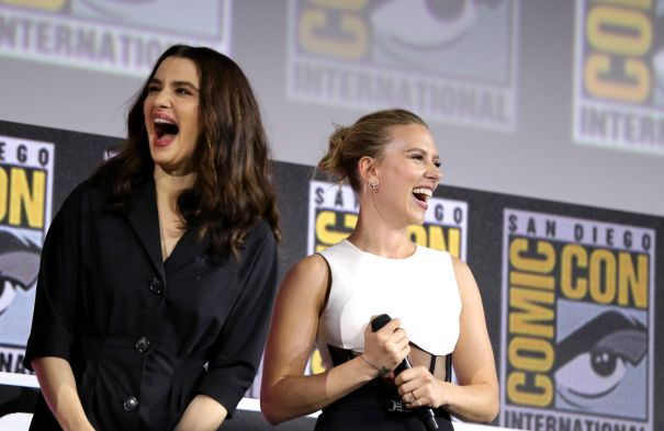 Rachel Weisz And Scarlett Johansson Promote 'Black Widow'