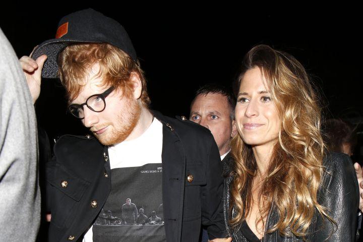 Ed Sheeran and Cherry Seaborn. Photo: Beretta/Sims/Shutterstock