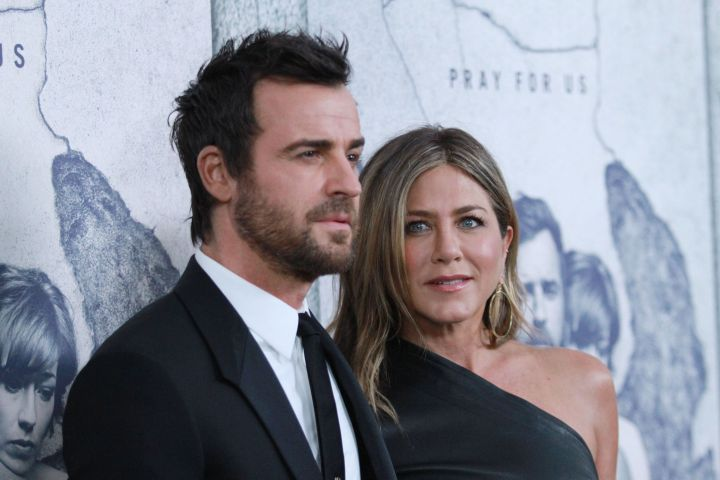 Justin Theroux and Jennifer Aniston. Photo: Matt Baron/Shutterstock