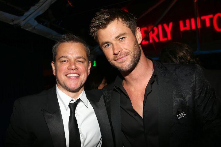 Matt Damon and Chris Hemsworth - Katie Jones/Variety/Shutterstock
