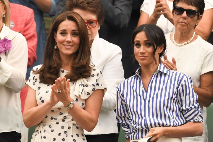Kate Middleton and Meghan Markle. Photo: James Gourley/BPI/Shutterstock