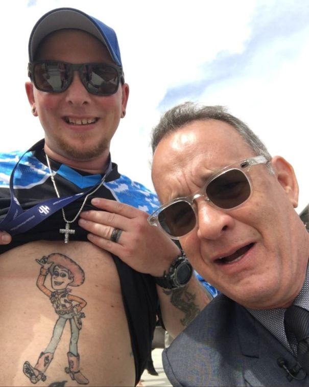 The Time He Took A Selfie With A Woody Tattoo