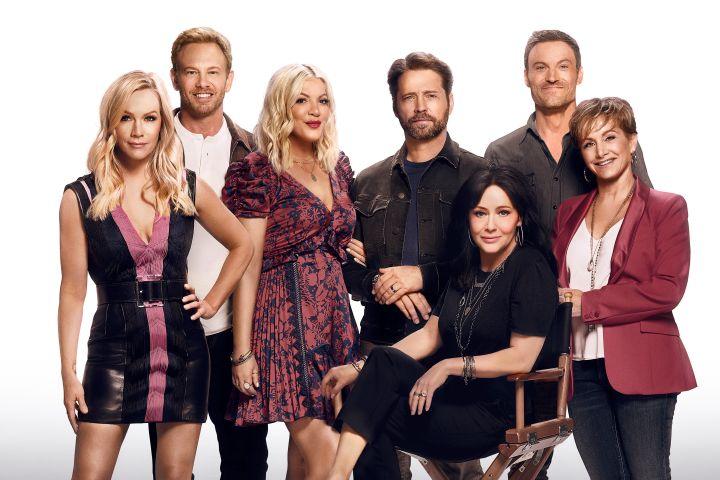 """Cast of """"BH90210"""". Photo: ©2019 Fox Media LLC Cr: Brian Bowen Smith/FOX"""