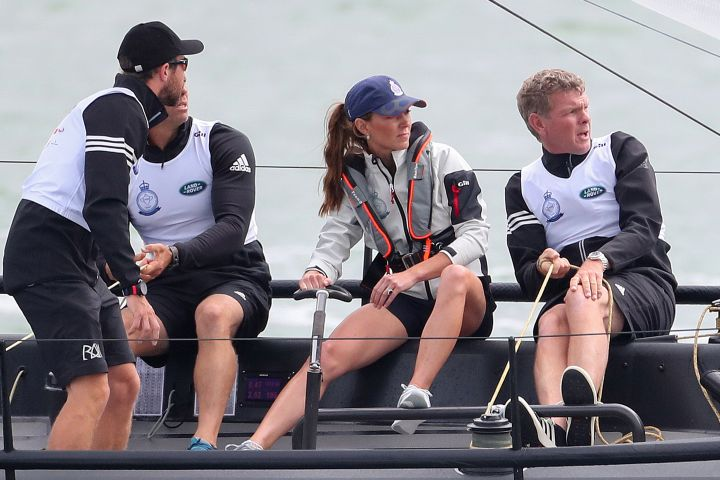 COWES, ENGLAND – AUGUST 08: Catherine, Duchess of Cambridge competing in the inaugural King's Cup regatta hosted by the Duke and Duchess of Cambridge on August 08, 2019 in Cowes, England. (Photo by Chris Jackson/Getty Images)
