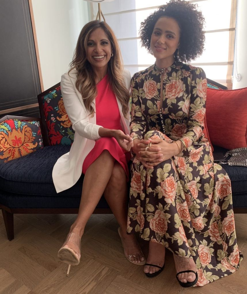 Sangita Patel chats with Nathalie Emmanuel.