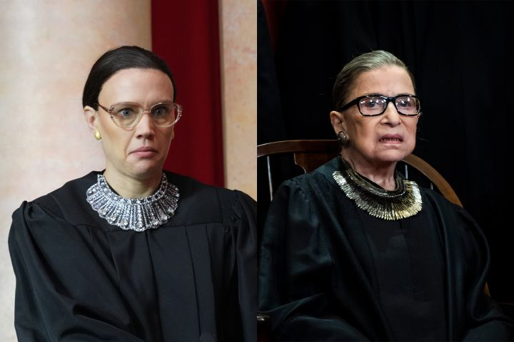 Kate Mckinnon, Ruth Bader Ginsburg. Photo: Getty Images