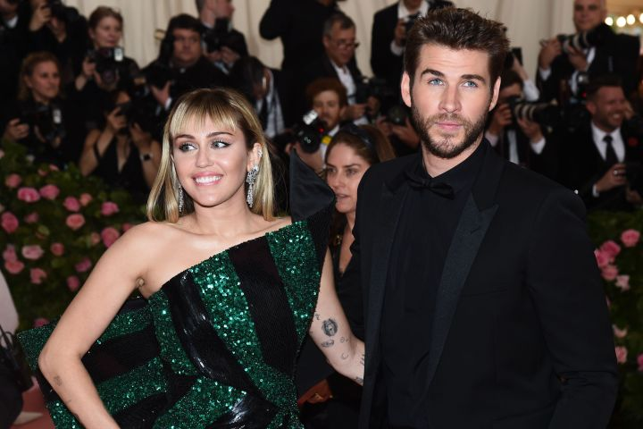 Photo by Michael Buckner/Variety/Shutterstock (10227717uu) Miley Cyrus and Liam Hemsworth Costume Institute Benefit celebrating the opening of Camp: Notes on Fashion, Arrivals, The Metropolitan Museum of Art, New York, USA - 06 May 2019