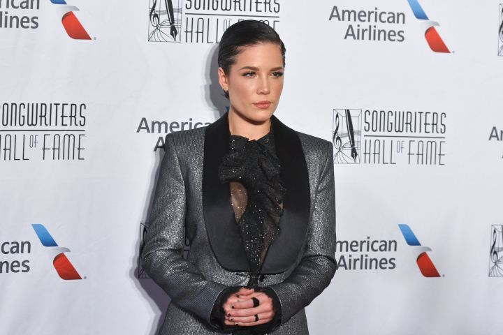 Mandatory Credit: Photo by Erik Pendzich/Shutterstock (10310162s) Halsey Songwriters Hall of Fame Annual Induction and Awards Gala, Arrivals, Marriott Marquis Hotel, New York, USA - 13 Jun 2019