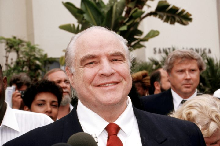 Mandatory Credit: Photo by Alesnick/Mediapunch/Shutterstock (8877680a) Marlon Brando at the Trial of Son Christian in the Early Nineties Brando, Marlon