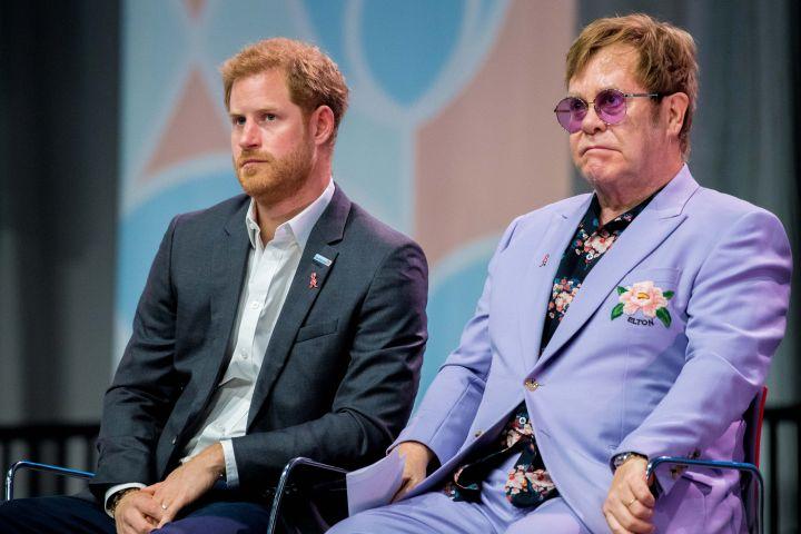 Photo by Shutterstock (9768969bu) Sir Elton John and Prince Harry 22nd International AIDS Conference, Amsterdam, Netherlands - 24 Jul 2018