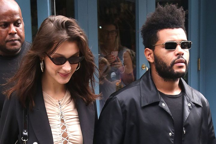 Bella Hadid and The Weeknd. Photo by Broadimage/Shutterstock