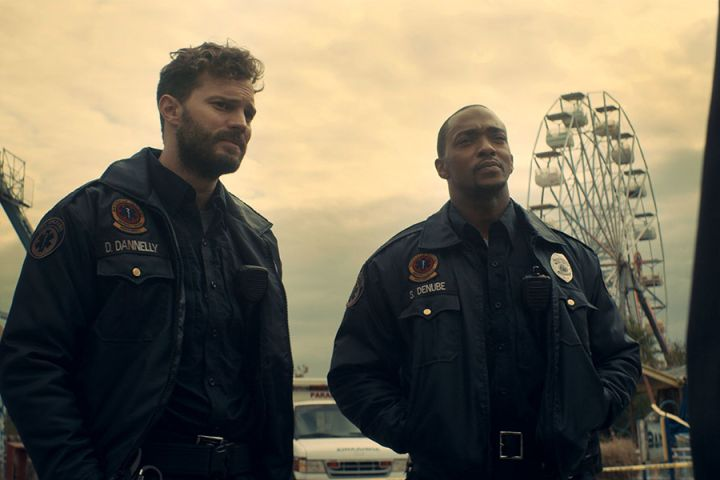 """Jamie Dornan and Anthony Mackie in """"Synchronic"""" -Courtesy Of TIFF"""