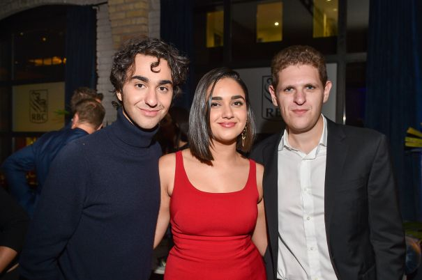 Alex Wolff, Geraldine Viswanathan, and Mike Makowsky