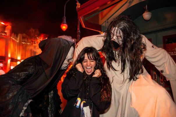 Camila Cabello Shrieks For 'Halloween Horror Nights'