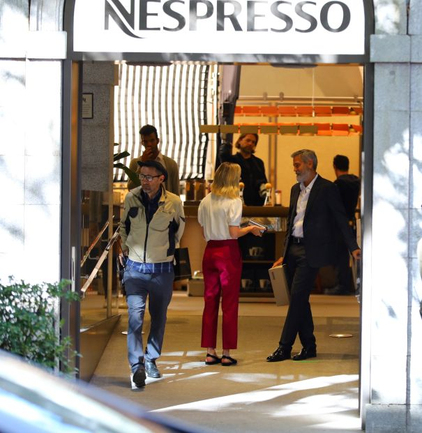 George Clooney And Brie Larson Shoot Nespresso Commercial