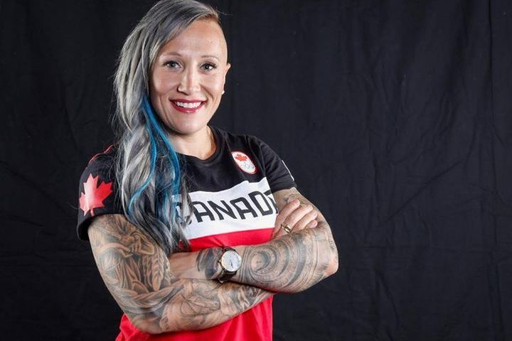 Canadian Olympic athlete Kaillie Humphries poses for a photo at the Olympic Summit in Calgary, Alta., Saturday, June 3, 2017.