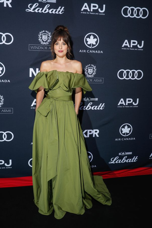 Dakota Johnson Stuns In Green