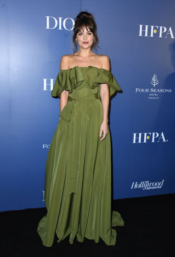 Dakota Johnson Glows In Green