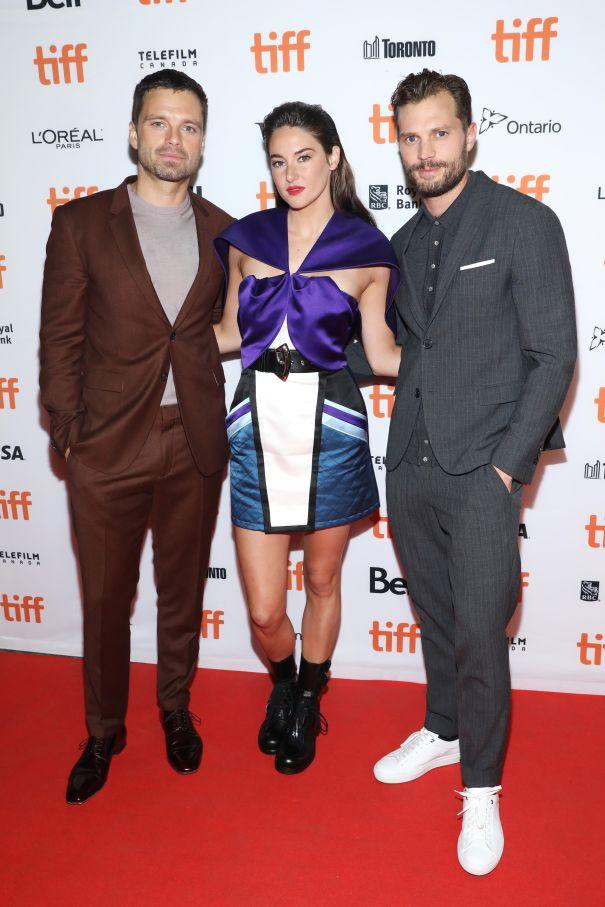 Shailene Woodley, Sebastian Stan & Jamie Dornan