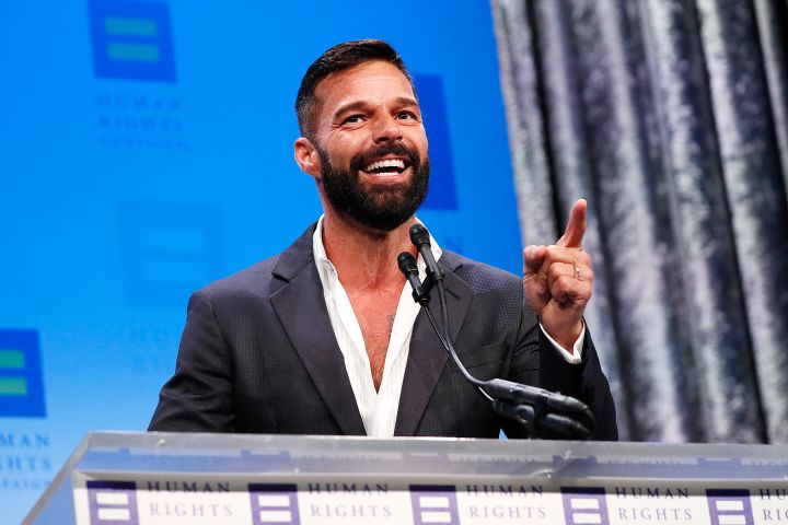 Ricky Martin at the 23rd Annual Human Rights Campaign National Dinner in Washington, DC.