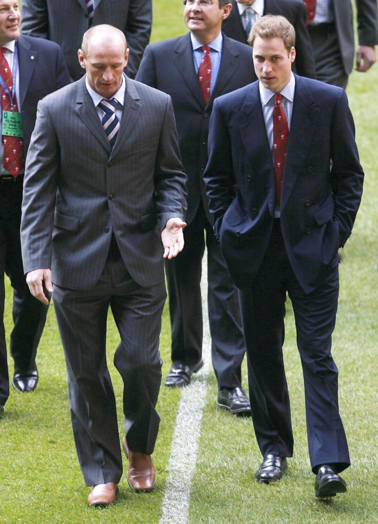 Prince William and Gareth Thomas in 2007. Anwar HusseinCollection/ROTA/WireImage