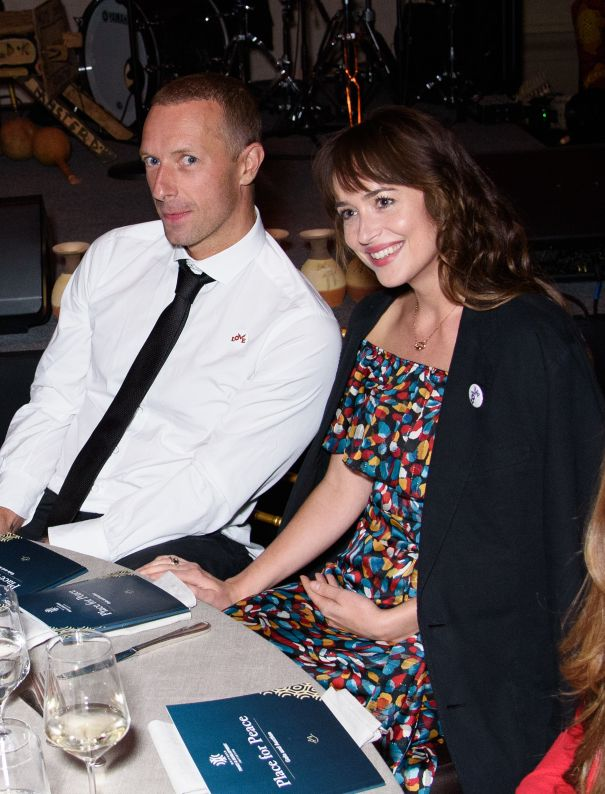Chris Martin Steps Out With Dakota Johnson