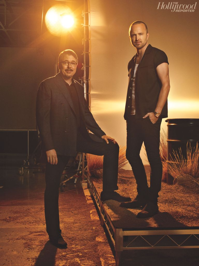 Vince Gilligan and Aaron Paul. Photo: Frank W. Ockenfels for THR