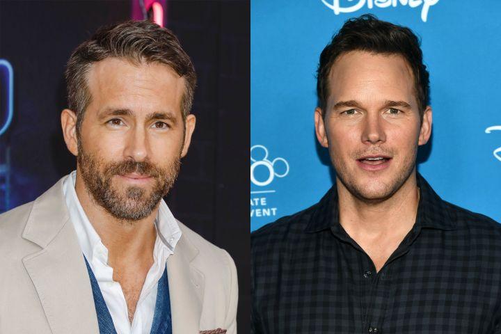 Ryan Reynolds, Chris Pratt. Photo: Shutterstock