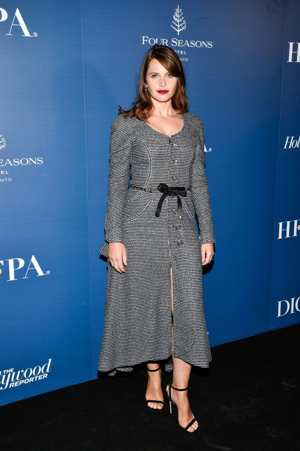 Felicity Jones Rocks A Chic Look