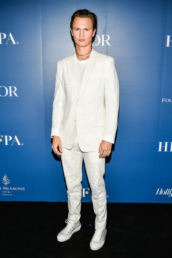 Ansel Elgort Is Sharp In White
