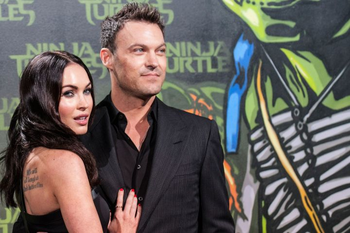 Mandatory Credit: Photo by Paul Zinken/EPA/Shutterstock (8249154f) Us Actress Megan Fox (l) and Her Husband Us Actor and Rapper Brian Austin Green Arrive For the German Premiere of 'Teenage Mutant Ninja Turtles' in Berlin Germany 05 October 2014 the Movie Will Be Released in German Cinemas on 16 October Germany Berlin Germany Cinema - Oct 2014