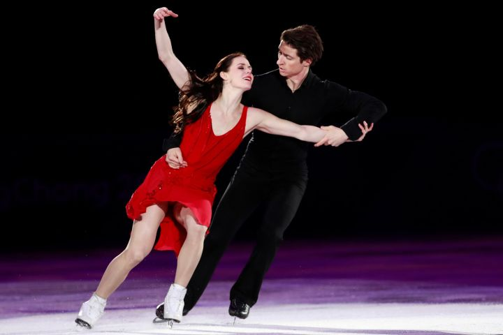 Mandatory Credit: Photo by How Hwee Young/EPA-EFE/Shutterstock (9437079id) Tessa Virtue and Scott Moir of Canada perform during the Figure Skating Gala Exhibition at the Gangneung Ice Arena during the PyeongChang 2018 Olympic Games, South Korea, 25 February 2018. Figure Skating - PyeongChang 2018 Olympic Games, Gangneung, Korea - 25 Feb 2018