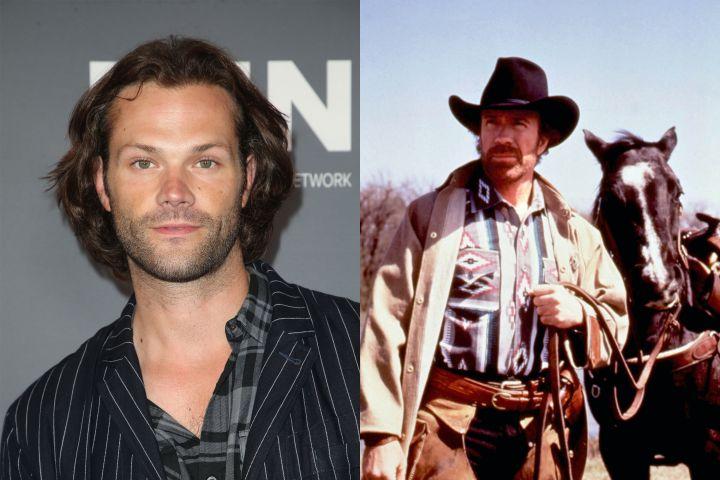 Jared Padalecki, Chuck Norris. Photo: Shutterstock