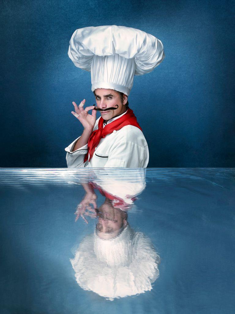 John Stamos as Chef Louis. (ABC/Andrew Eccles)
