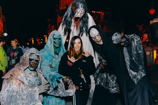 Bella Thorne Takes On Horror Nights