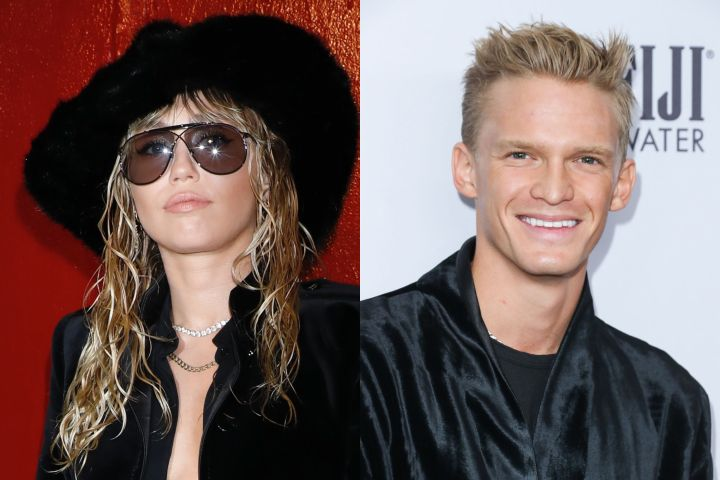 Miley Cyrus, Cody Simpson. Photo: Shutterstock