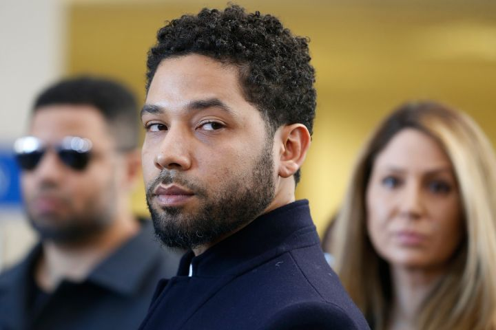 Actor Jussie Smollett after his court appearance at Leighton Courthouse on March 26, 2019 in Chicago, Ill.