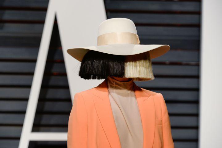 Sia. Photo by Presley Ann Slack/Patrick McMullan via Getty Images