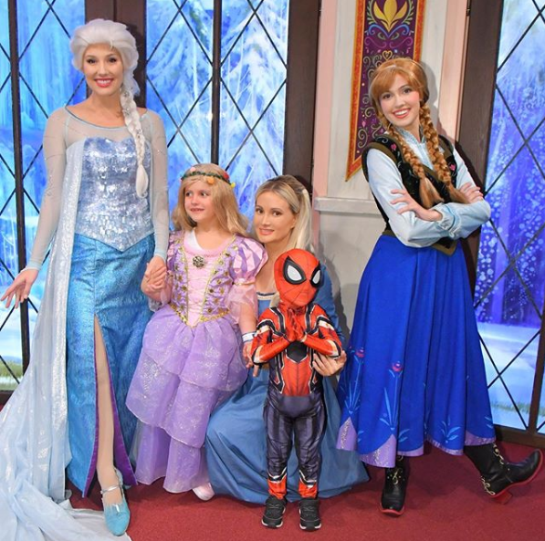 Holly Madison Plays Dress-Up With Her Kids