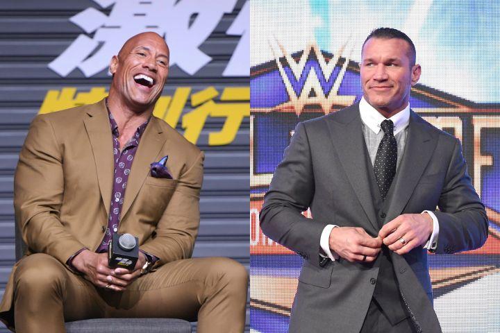 Dwayne Johnson, Randy Orton. Photo: Shutterstock