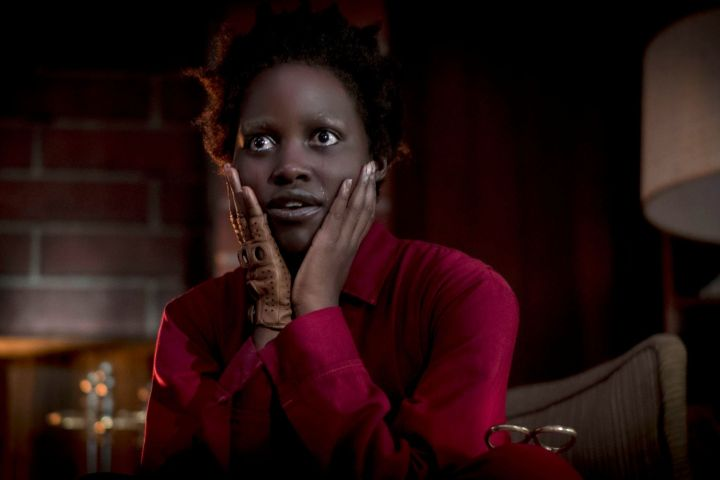 Editorial use only. No book cover usage. Mandatory Credit: Photo by C Barius/Universal/ILM/Kobal/Shutterstock (10162635l) Lupita Nyong'o as Red 'Us' Film - 2019 A family's serenity turns to chaos when a group of doppelgängers begins to terrorize them.