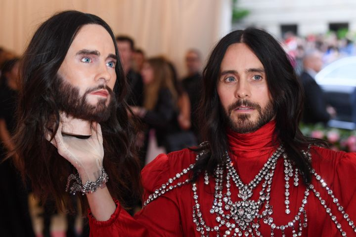 Mandatory Credit: Photo by David Fisher/Shutterstock (10225566dz) Jared Leto Costume Institute Benefit celebrating the opening of Camp: Notes on Fashion, Arrivals, The Metropolitan Museum of Art, New York, USA - 06 May 2019