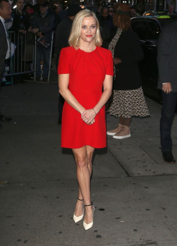 Reese Radiates In Red